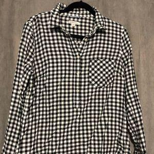 Merona checkered shirt black and white size M